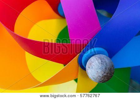 Multicolored Pinwheel