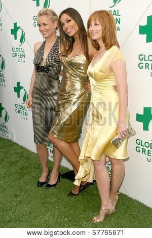 Radha Mitchell with Rosario Dawson and Sharon Lawrence at Global Green USA's 13th Annual Millennium Awards. Fairmont Miramar Hotel, Santa Monica, CA. 05-30-09