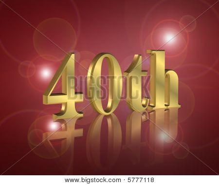 invitación de fiesta de cumpleaños 40