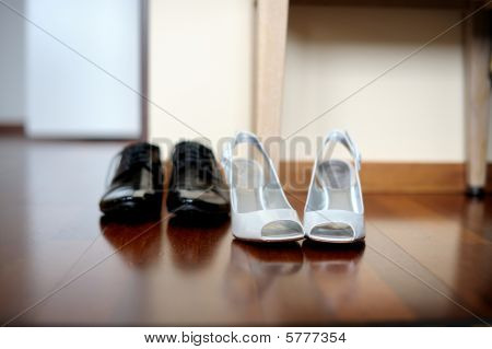 Elegant Bride's And Groom's Shoes