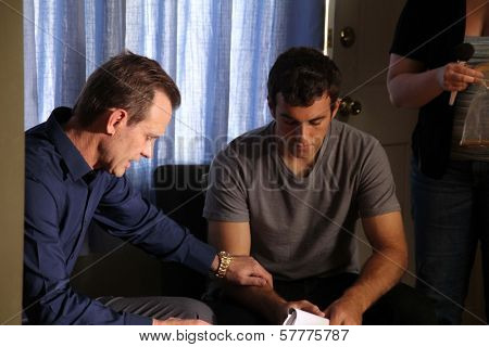 Michael Biehn, Matthew Ziff on the set of