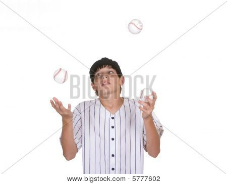 Juggling baseballs