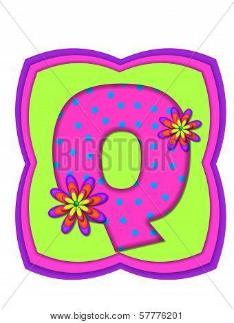 Alphabet Daisy Daze Q