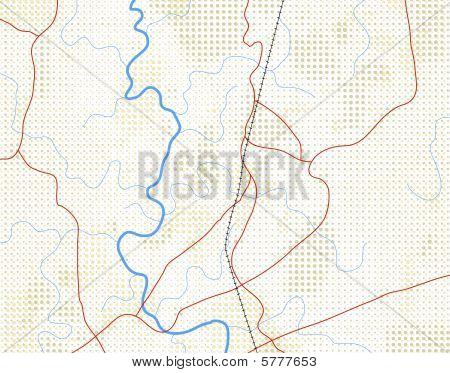 Halftone map