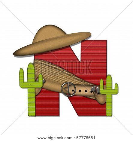 Alphabet Bandido N