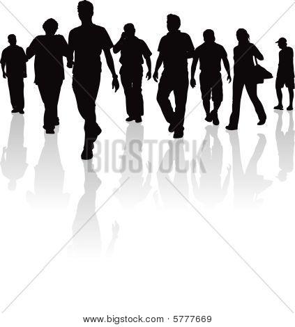 ordinary people walking