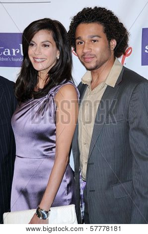 Teri Hatcher and Corbin Bleu at the Starlight Children's Foundation's 'A Stellar Night' Gala. Beverly Hilton Hotel, Beverly Hills, CA. 03-27-09