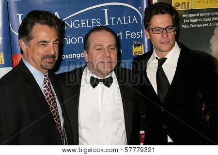 Joe Mantegna with Pascal Vicedomini and Ioan Gruffudd at the 4th Los Angeles Italia Film Fashion and Art Festival. Mann Chinese 6 Theatre, Hollywood, CA. 02-15-09