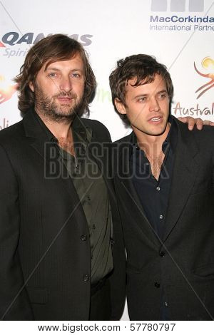 Gregor Jordan and Oliver Ackland at the Australian Academy Award Celebration. Chateau Marmont, West Hollywood, CA. 90046