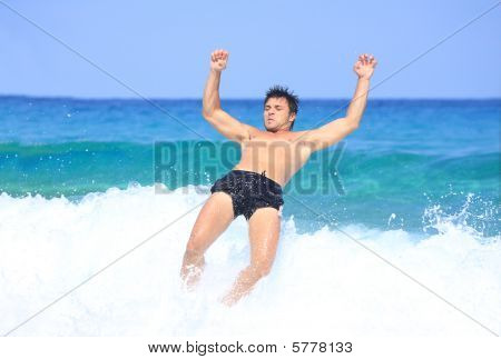 Having Fun In The Sea