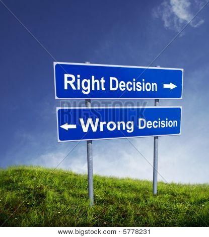 Right Wrong Decision
