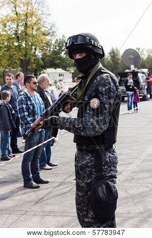 Bucharest, Romania - September 2013: Prison Intervention Force