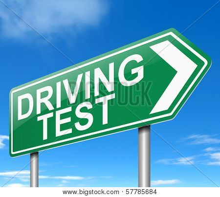 Driving Test Concept.