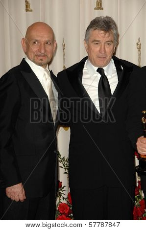 Ben Kingsley and Robert De Niro in the Press Room at the 81st Annual Academy Awards. Kodak Theatre, Hollywood, CA. 02-22-09