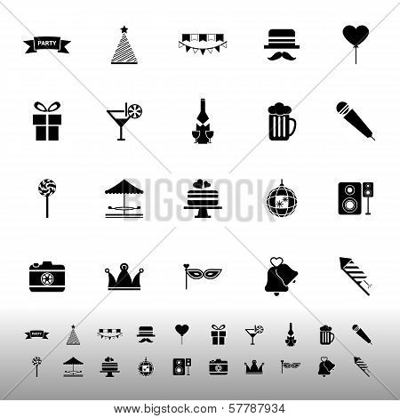 Party Time Icons On White Background