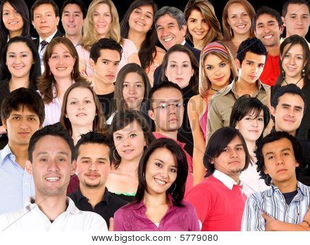Menschen Gesichter