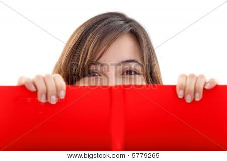 Girl With A Red Banner