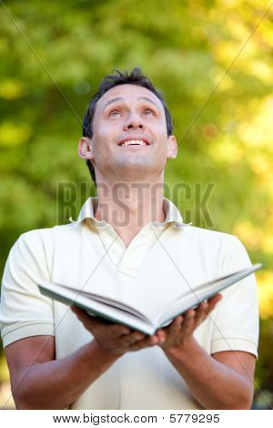 Man With An Open Book