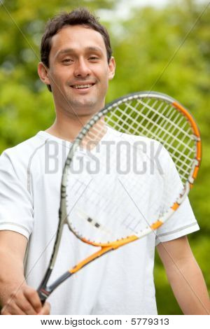 Man With A Racket