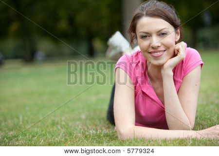 Woman Lying Down Outdoors