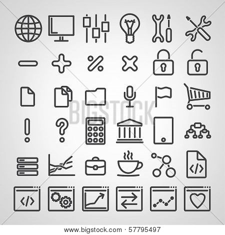 Set of SEO icons