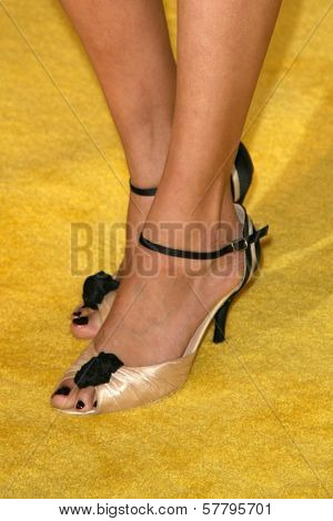 Maggie Grace's shoes at the U.S. Premiere of 'Watchmen'. Grauman's Chinese Theatre, Hollywood, CA. 03-02-09