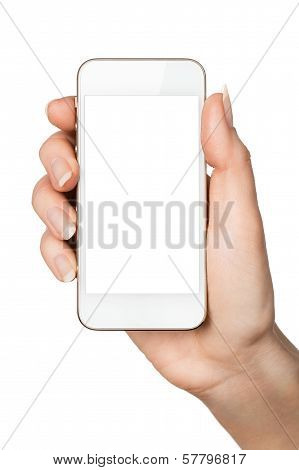 Blank Smart Phone In Hand