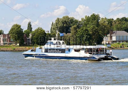 Waterbus On The River Merwekade
