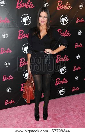 Khloe Kardashian at Barbie's 50th Birthday Party. Barbie's Real-Life Malibu Dream House, Malibu, CA. 03-09-09