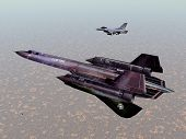 image of cold-war  - Computer generated 3D illustration with the American Reconnaissance Aircraft SR - JPG