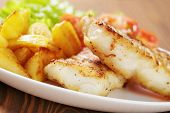 Roasted Codfish Fillet With Vegetables