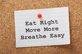 stock photo of breathing exercise  - The phrase Eat Right - JPG