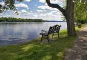 image of breath taking  - Have a seat on the bench to take a nice breath of fresh air and enjoy the scenery - JPG