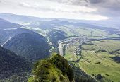 foto of pieniny  - Aerial view of pieniny mountains and surrounding countryside Poland - JPG