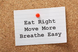 picture of breathing exercise  - The phrase Eat Right - JPG