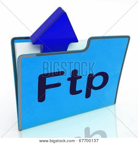 Ftp File Represents Transfer Files And Binder