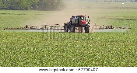 Spraying A Corn Field