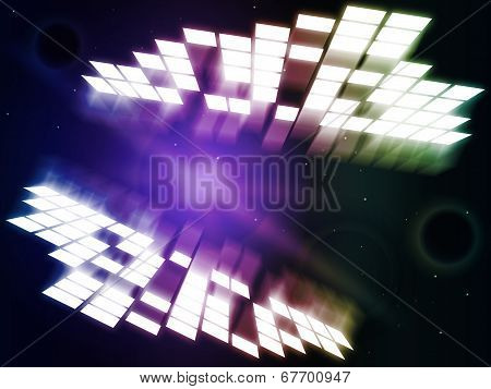 Glow Background Represents Light Burst And Abstract