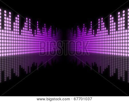 Background Equaliser Represents Text Space And Abstract