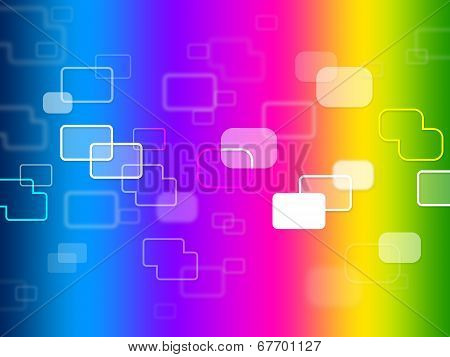 Squares Background Indicates Hi Tech And Abstract