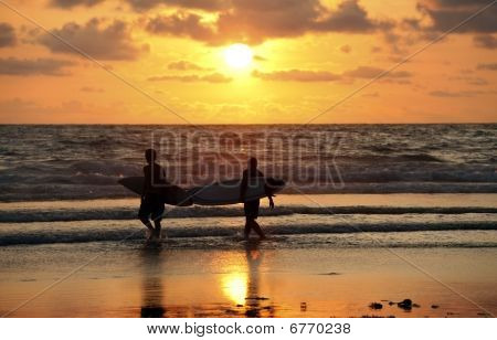 Surfers On Sunset