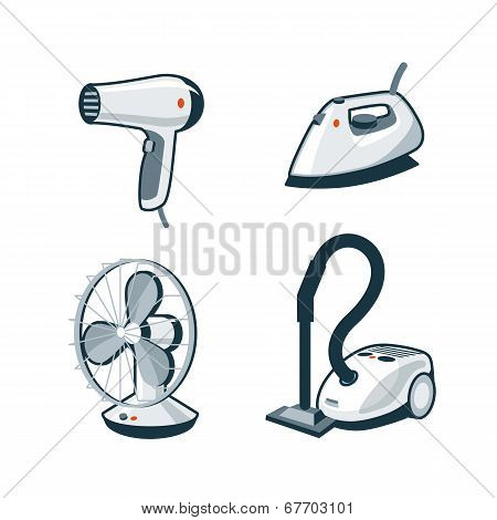 Home Appliances 5 - Hair Dryer, Iron, Fan, Vacuum Cleaner