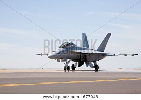 F-18 Hornet Taxiing