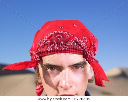 Young Man Wearing Bandana