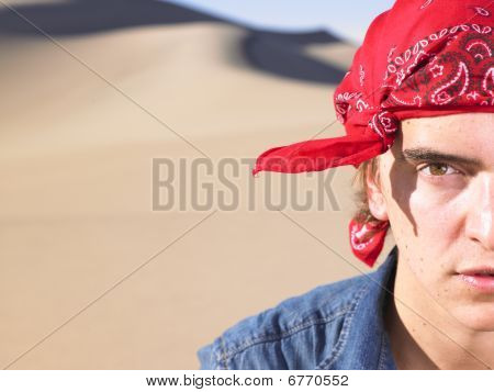 Young Man Wearing Bandana