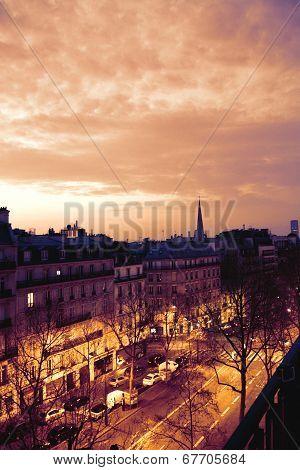 Morning scenery in Paris