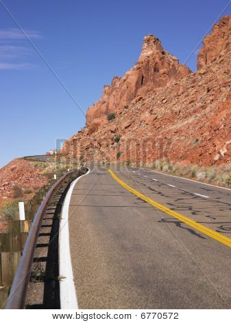 Highway Through Rocky Hills