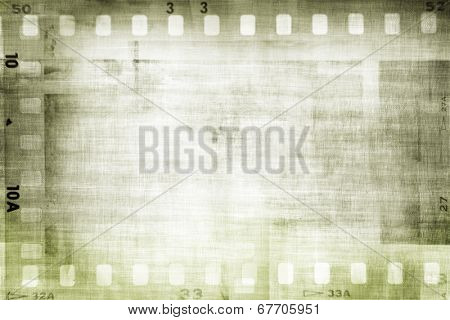 Film negative frames on textured background
