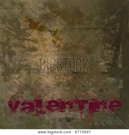 Valentine Background With Valentine Text