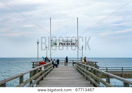 Prerow Pier With Sign